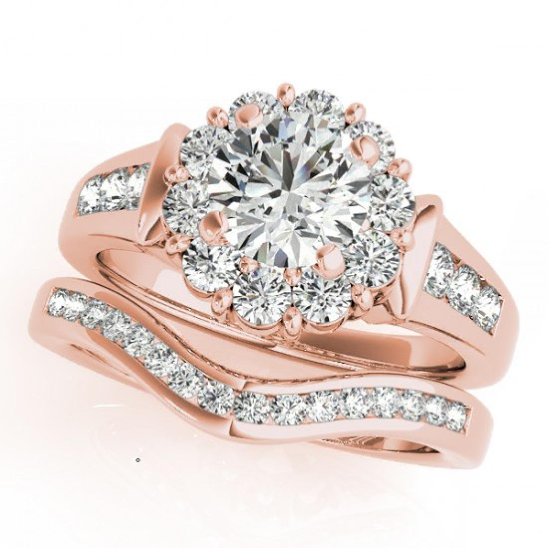 1.56 CTW Certified VS/SI Diamond 2Pc Wedding Set