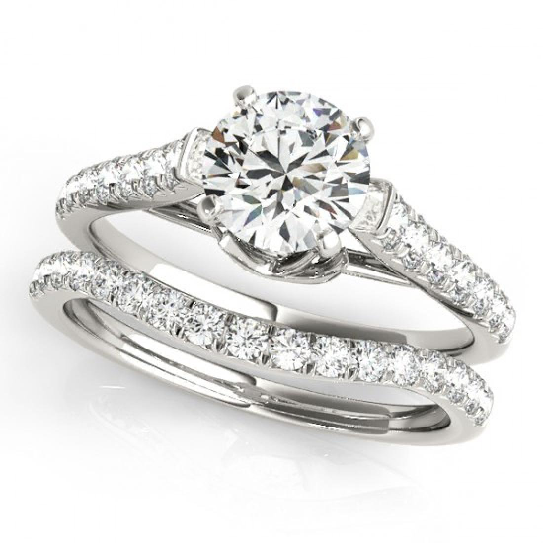1.33 CTW Certified VS/SI Diamond Solitaire 2Pc Wedding