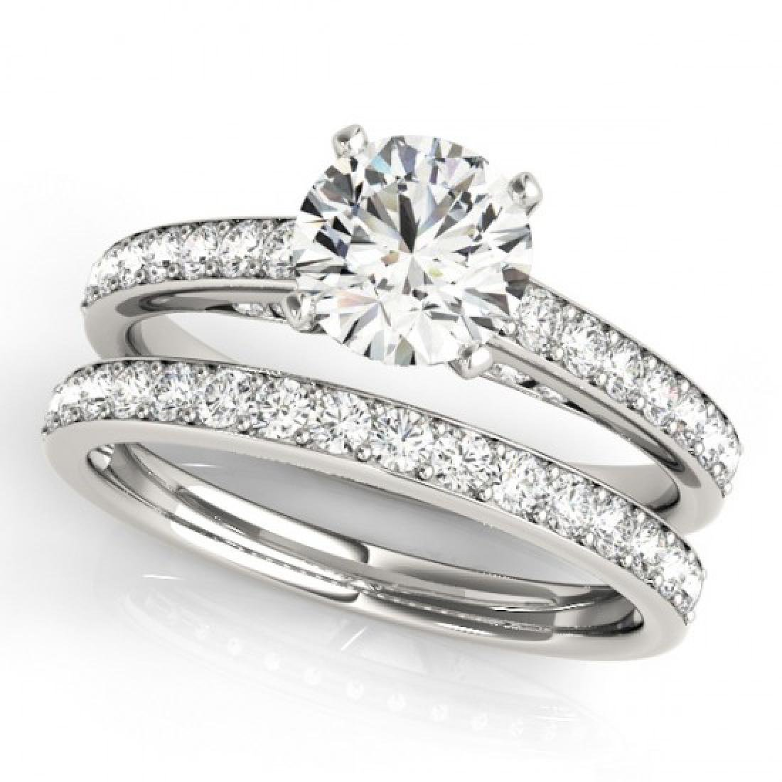1.91 CTW Certified VS/SI Diamond Solitaire 2Pc Wedding