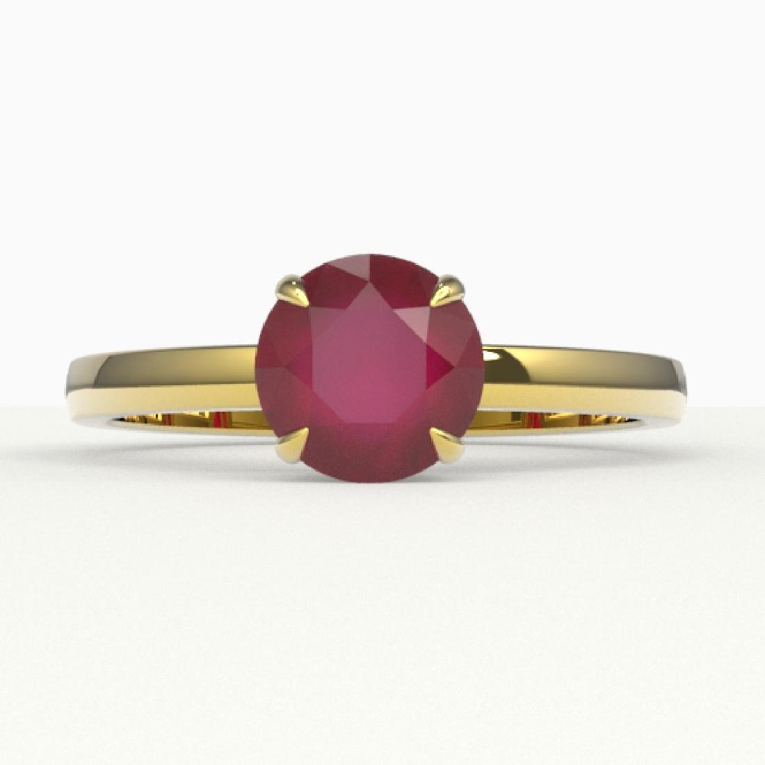 2 CTW Ruby Designer Inspired Solitaire Engagement Ring
