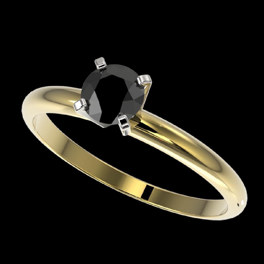 0.50 CTW Fancy Black VS Diamond Solitaire Engagement