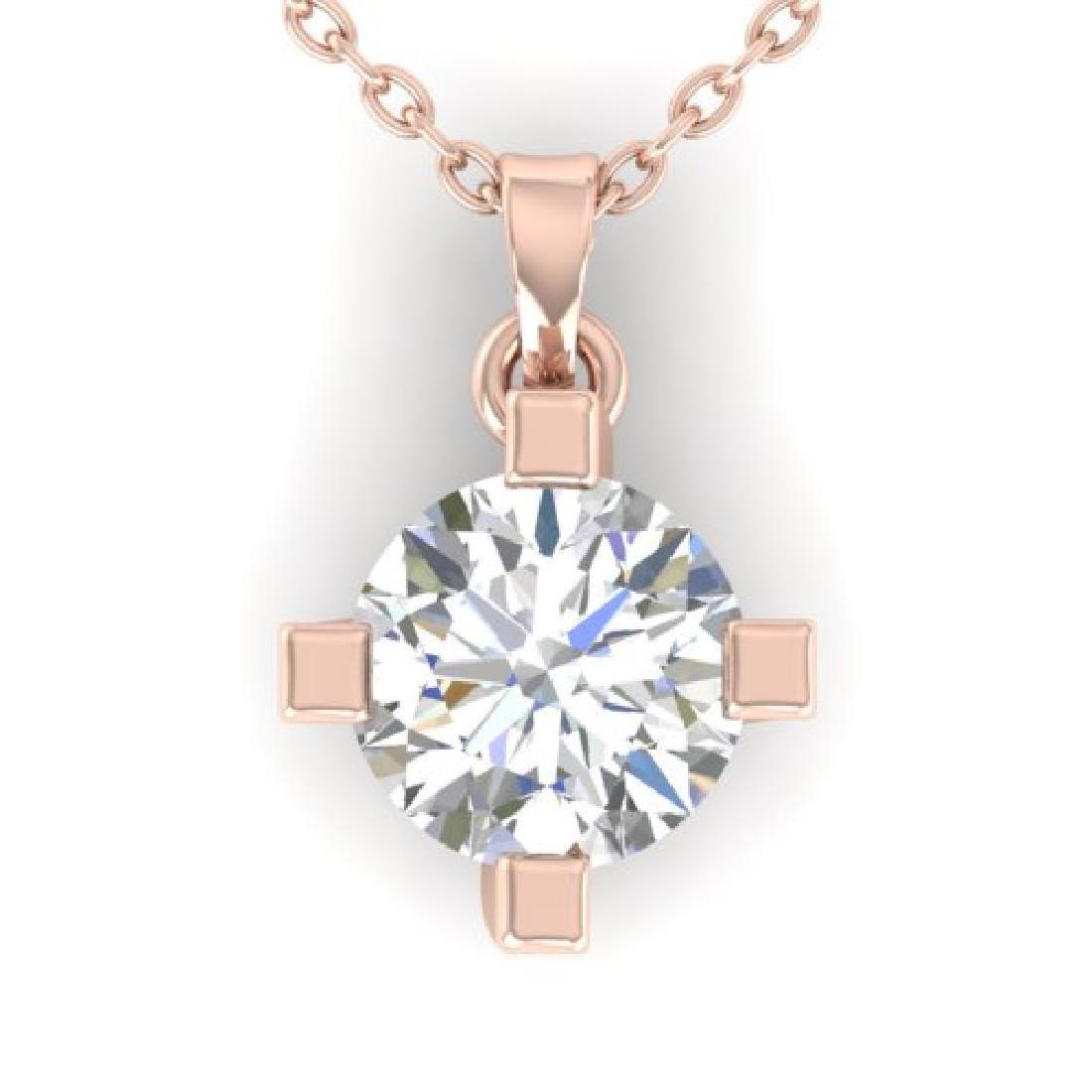 1 CTW Certified VS/SI Diamond Solitaire Necklace 14K