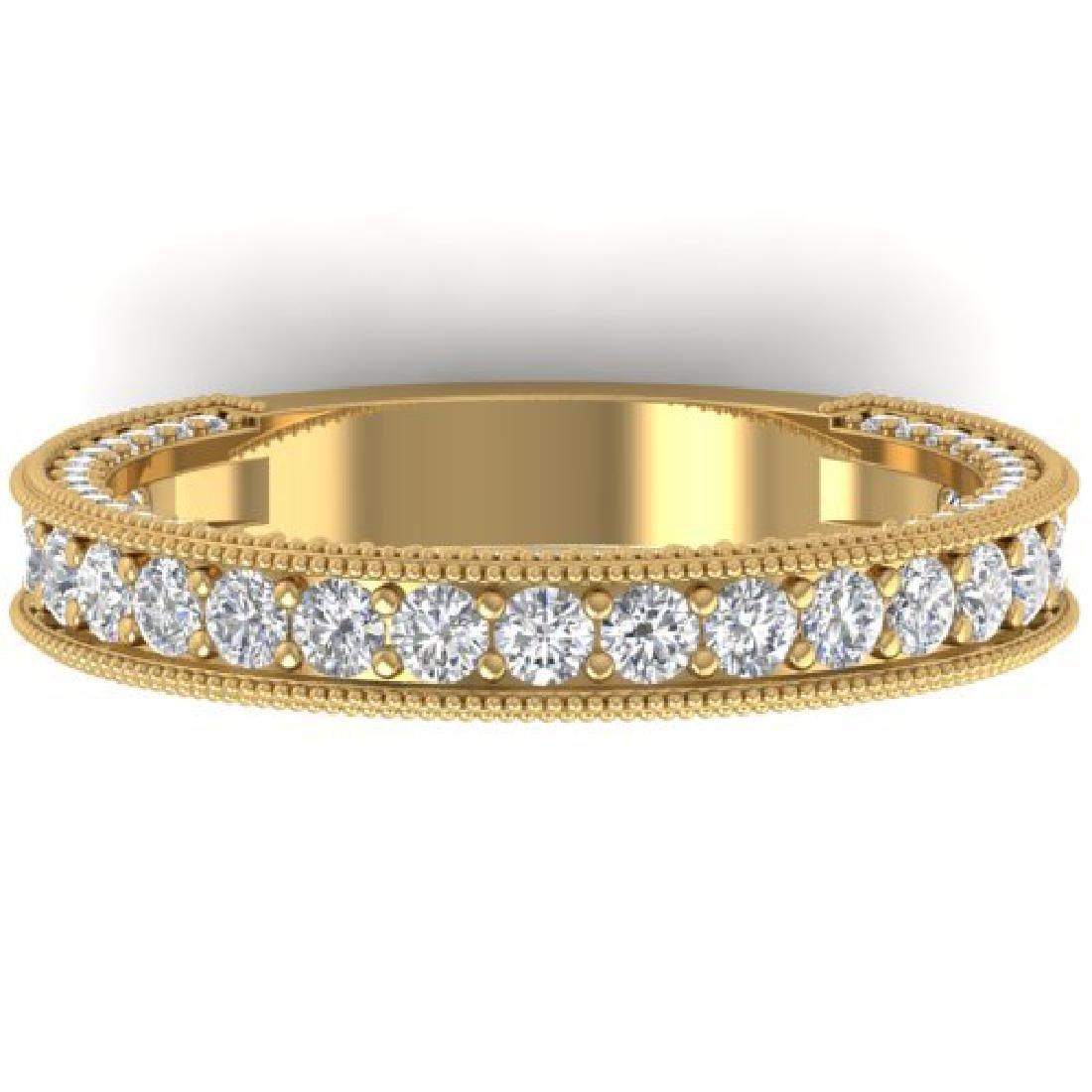 1.25 CTW VS/SI Diamond Art Deco Eternity Band Ring 14K