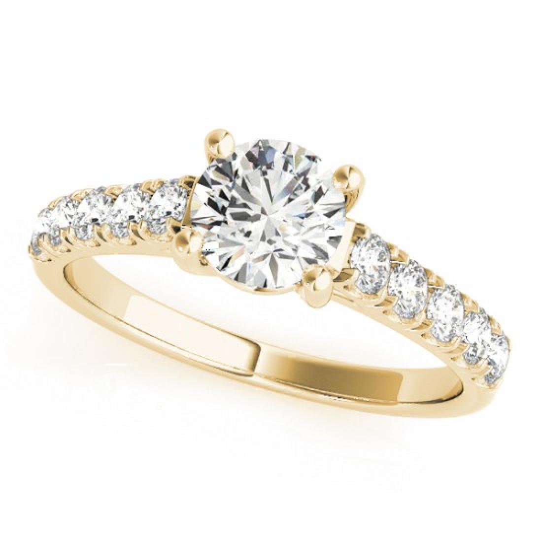 2.1 CTW Certified VS/SI Diamond Solitaire Ring 18K