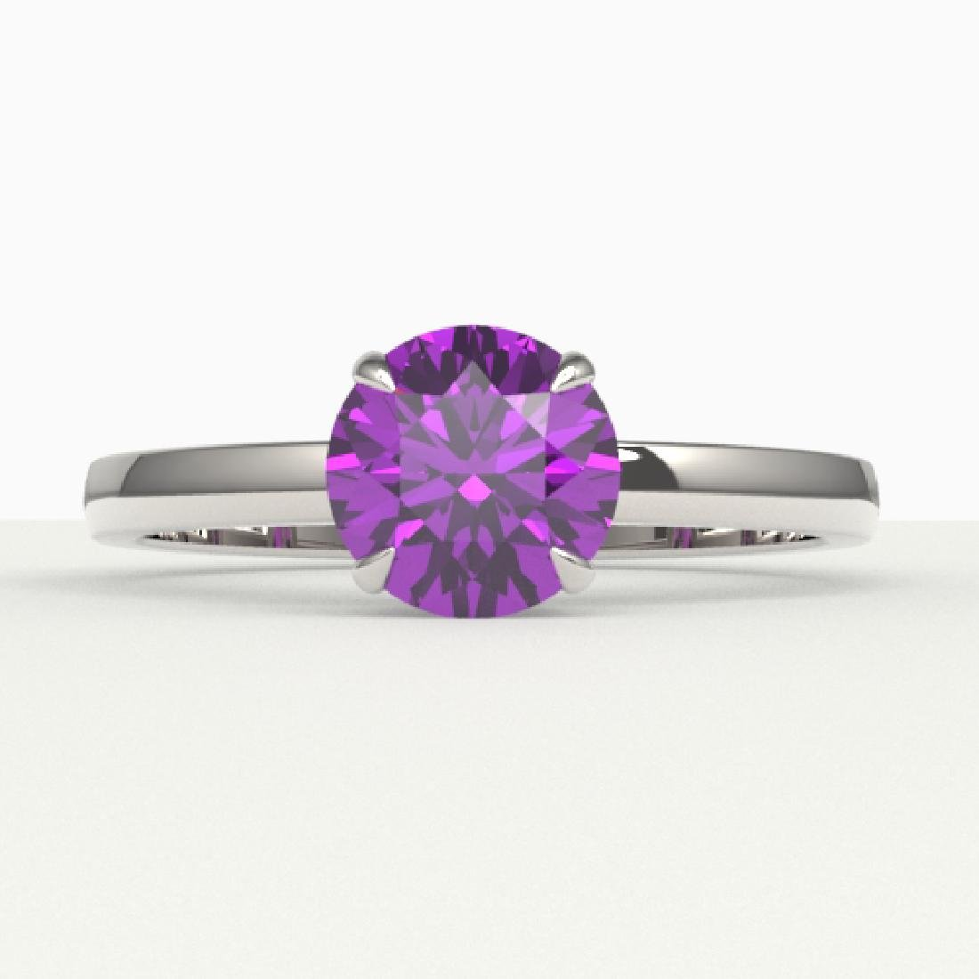 2 CTW Amethyst Designer Inspired Solitaire Engagement