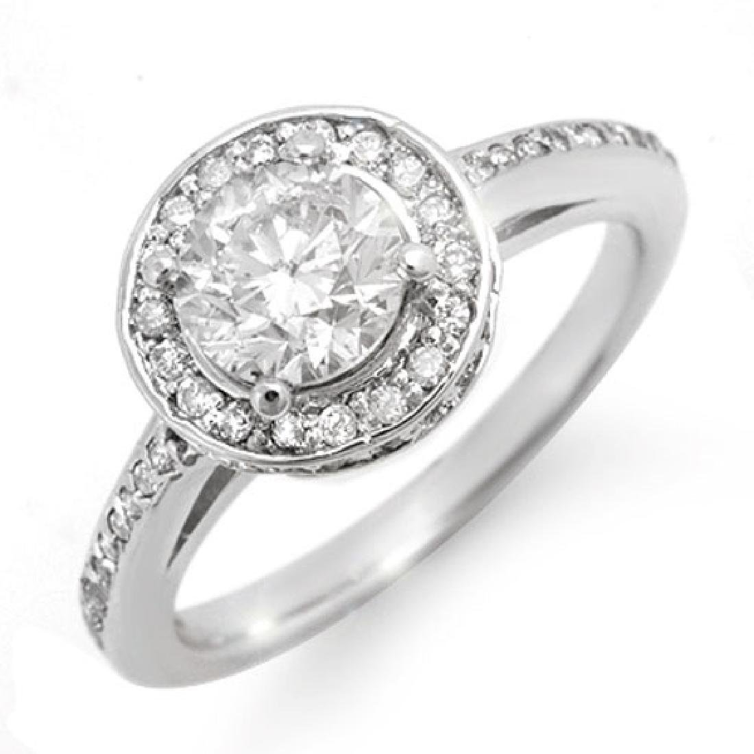 1.75 CTW Certified VS/SI Diamond Ring 18K White Gold