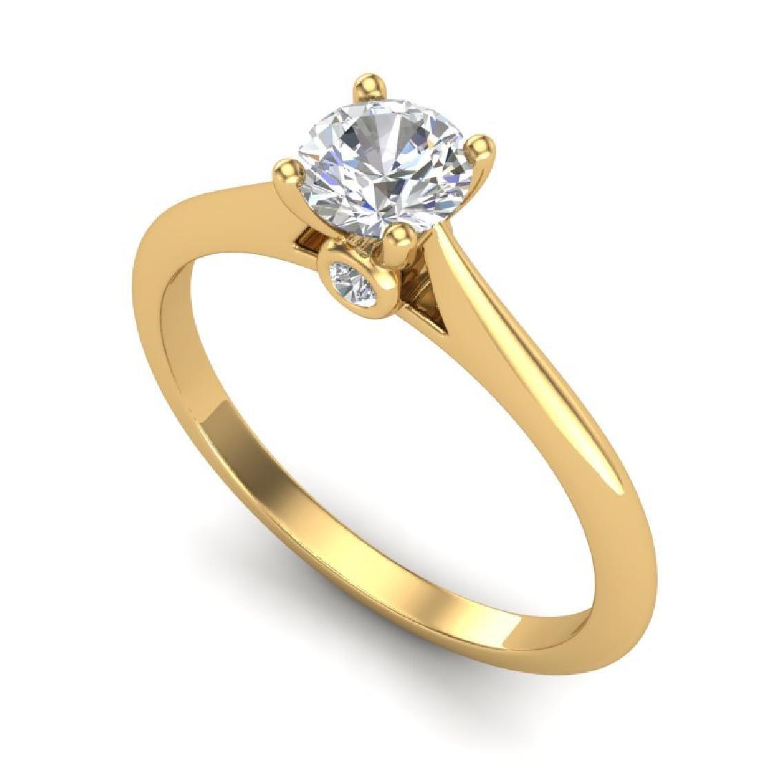 0.56 CTW VS/SI Diamond Solitaire Art Deco Ring 18K