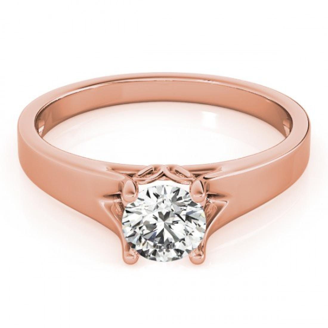 1.5 CTW Certified VS/SI Diamond Solitaire Ring 18K Rose