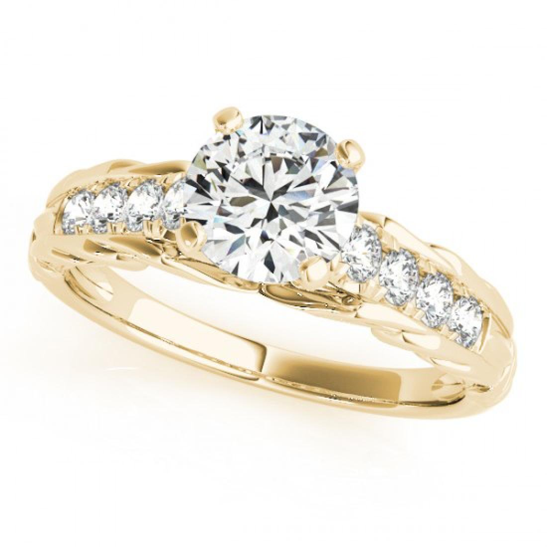 1.2 CTW Certified VS/SI Diamond Solitaire Ring 18K