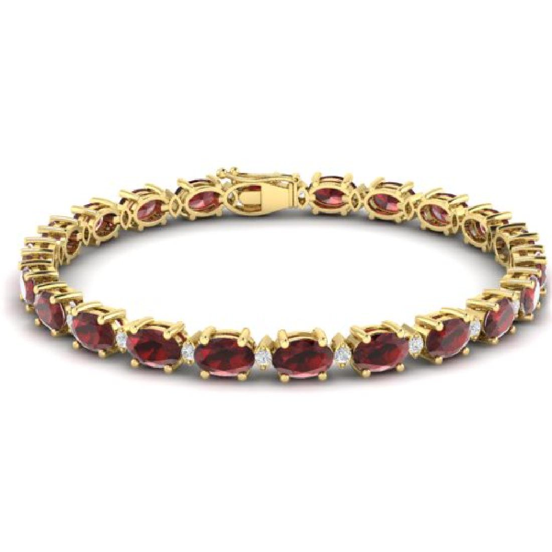 19.7 CTW Garnet & VS/SI Certified Diamond Eternity