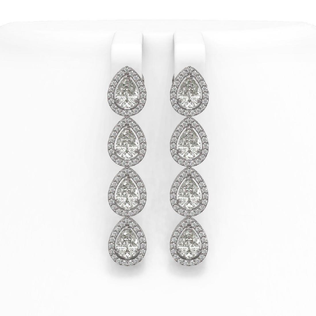 6.01 CTW Pear Diamond Designer Earrings 18K White Gold
