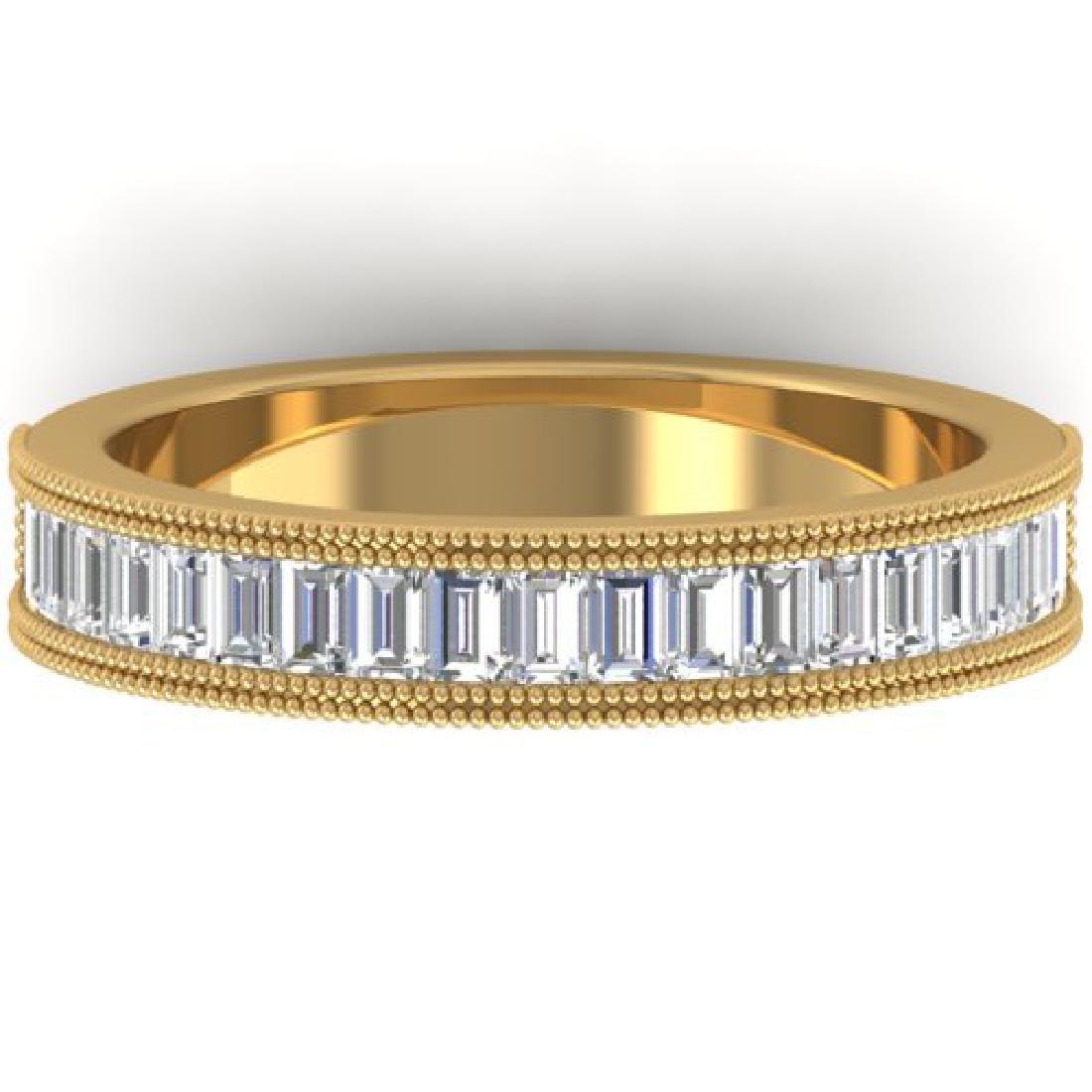 1 CTW Baguette VS/SI Diamond Art Deco Eternity Band 14K