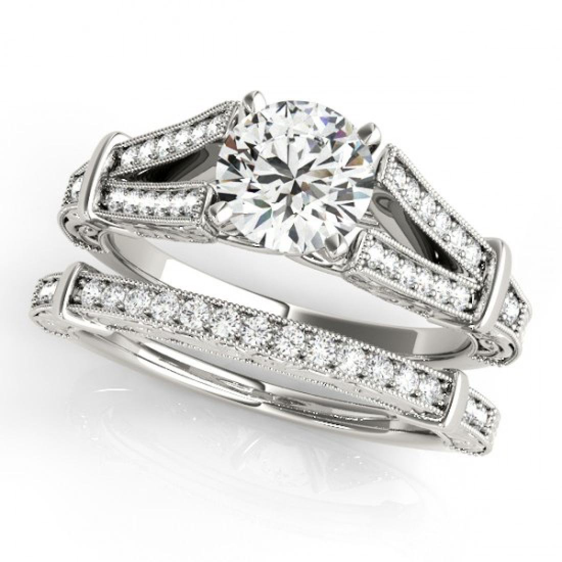 0.91 CTW Certified VS/SI Diamond Solitaire 2Pc Wedding