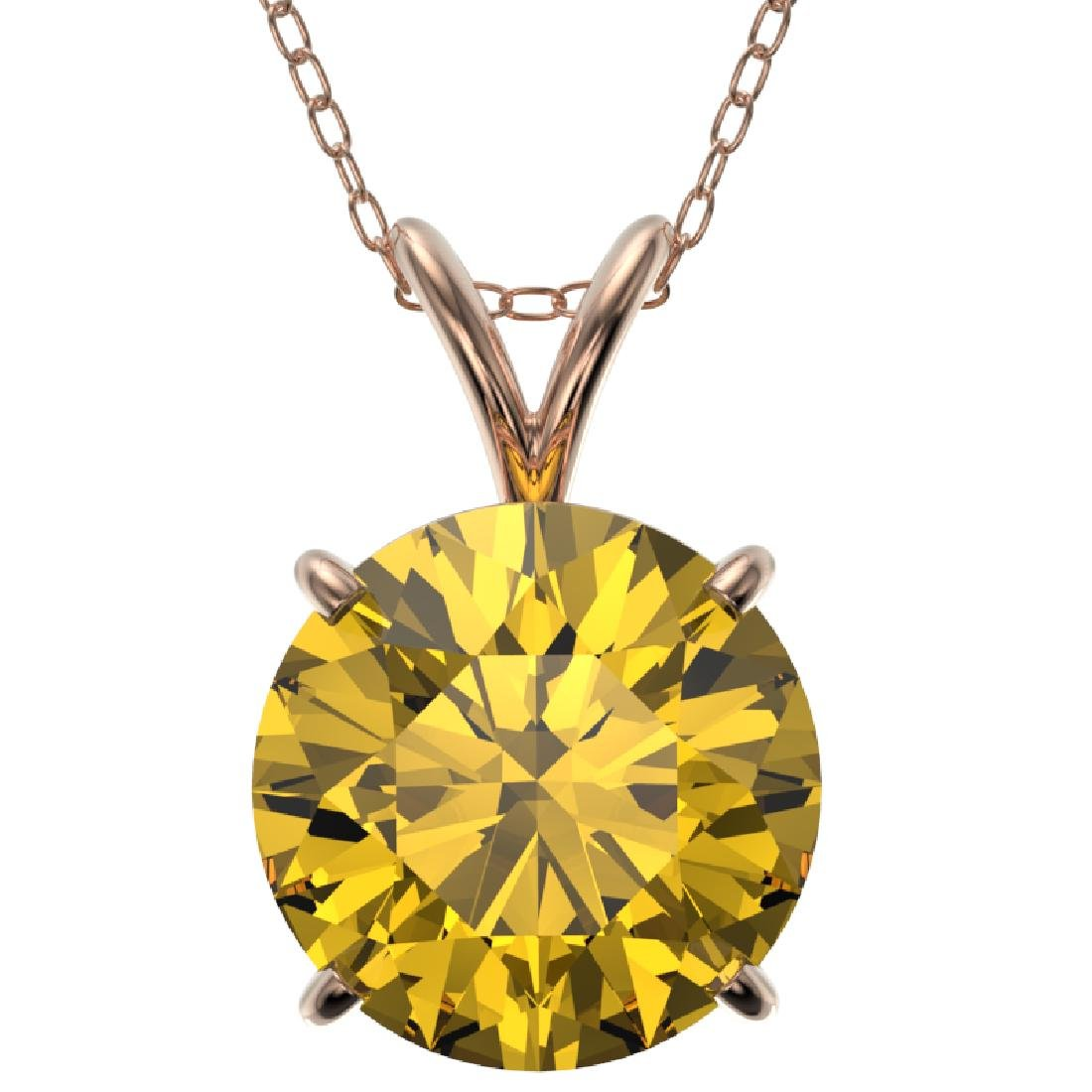 2.50 CTW Certified Intense Yellow SI Diamond Solitaire