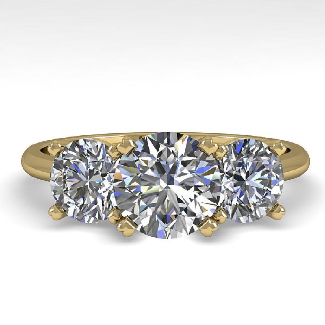 2 CTW VS/SI Diamond Past Present Future Designer Ring