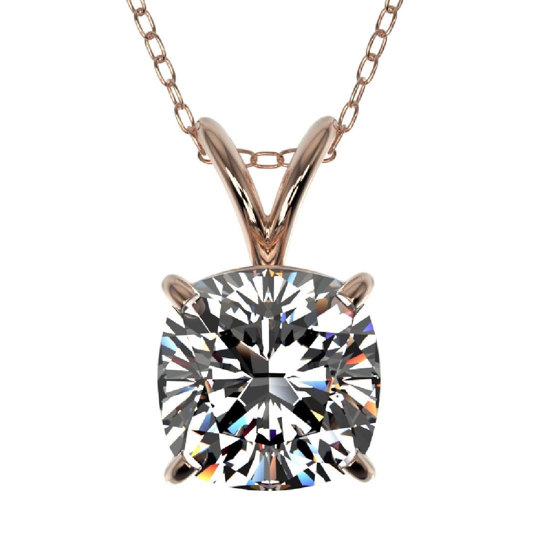 1.25 CTW Certified VS/SI Quality Cushion Cut Diamond