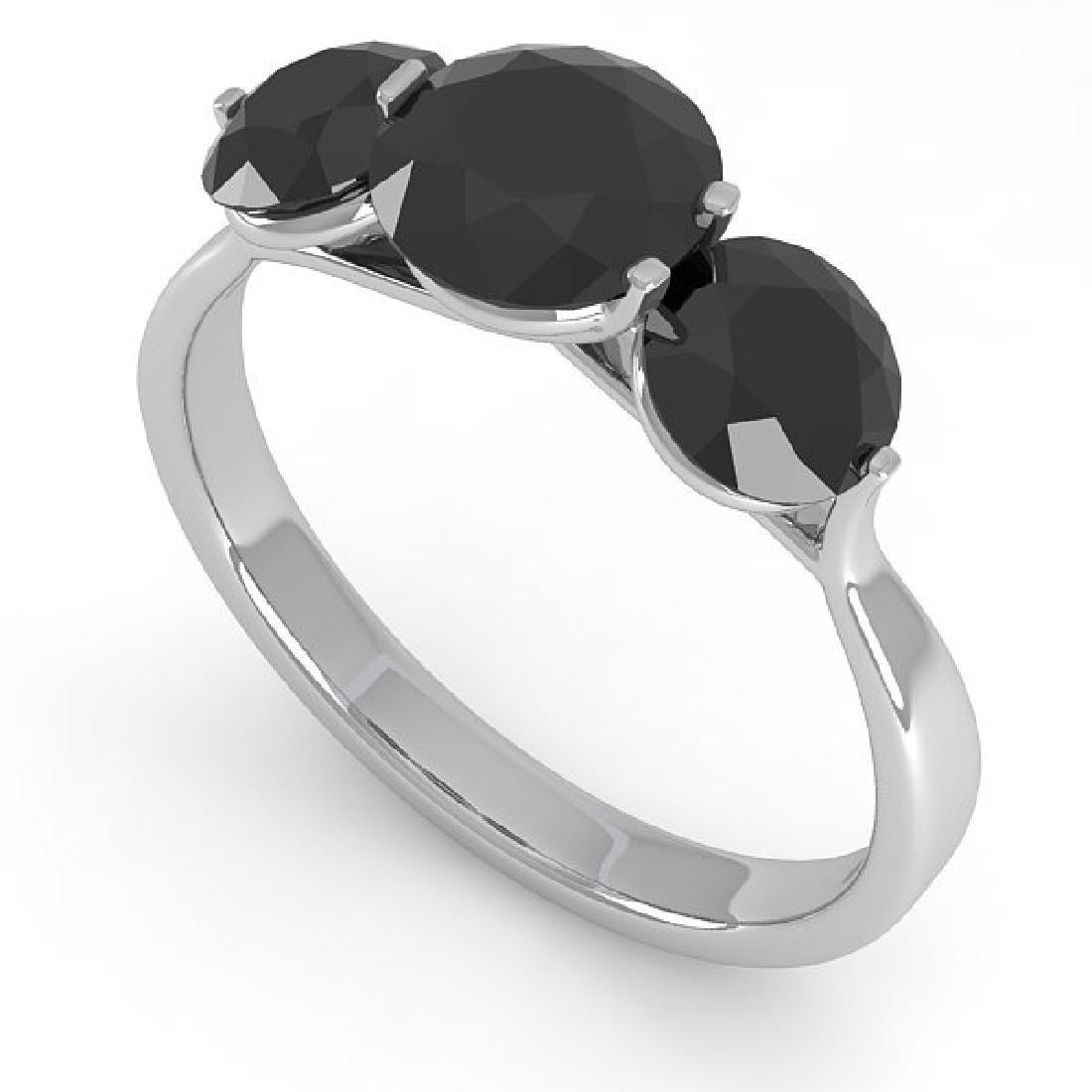 2 CTW Past Present Future Black Certified Diamond Ring