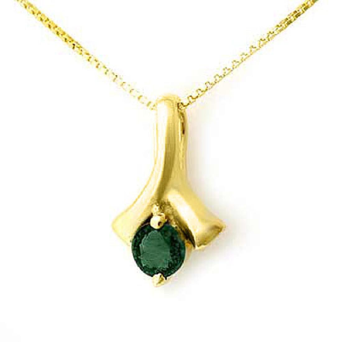 0.25 CTW Emerald Pendant 10K Yellow Gold