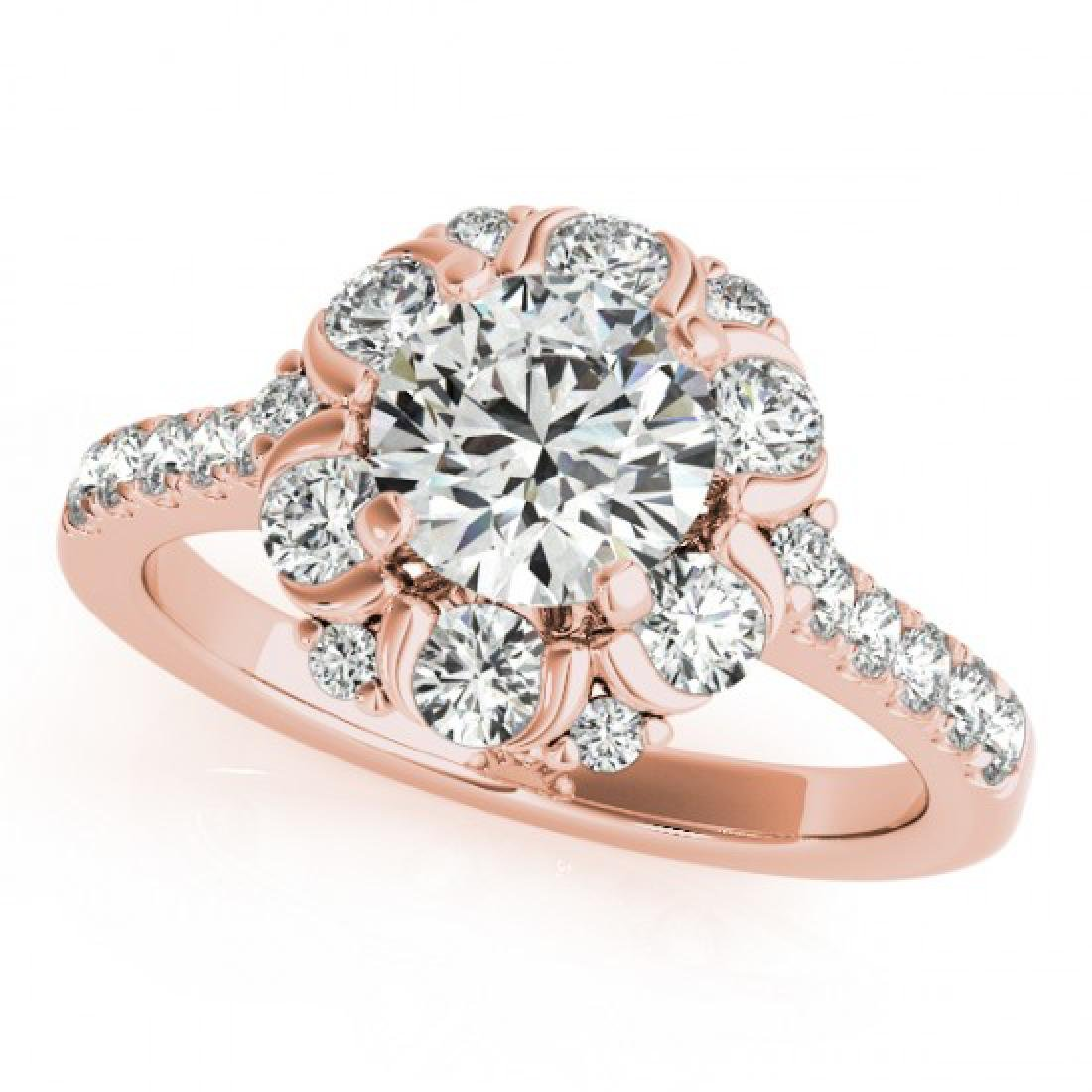 2.05 CTW Certified VS/SI Diamond Solitaire Halo Ring