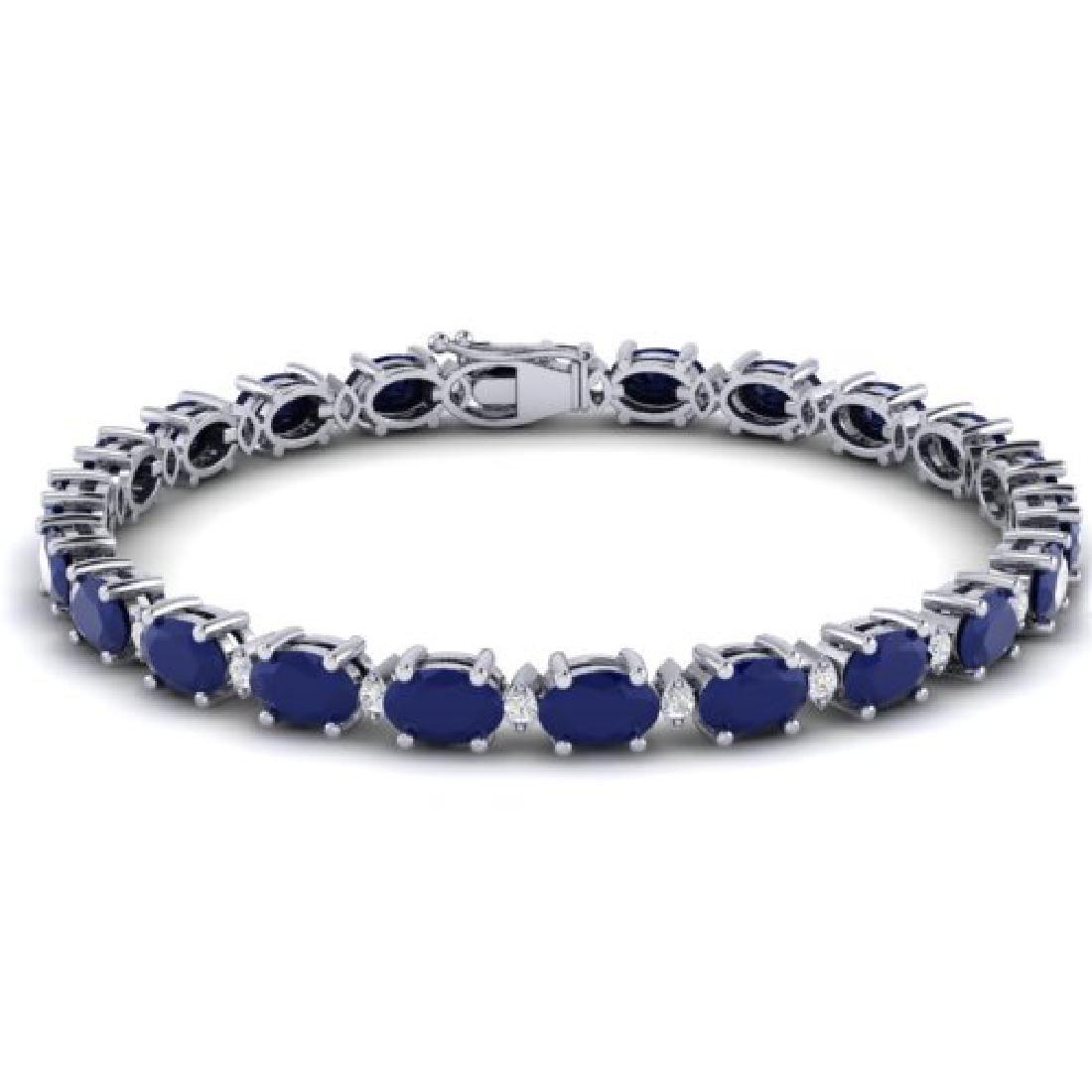 23.5 CTW Sapphire & VS/SI Certified Diamond Eternity