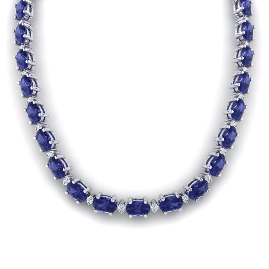 46.5 CTW Tanzanite & VS/SI Certified Diamond Eternity