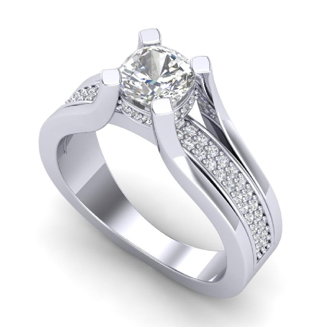 1.7 CTW Cushion VS/SI Diamond Solitaire Micro Pave Ring