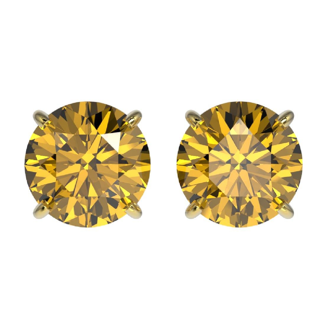 1.97 CTW Certified Intense Yellow SI Diamond Solitaire