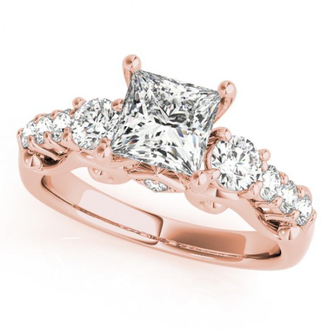1.75 CTW Certified VS/SI Diamond 3 Stone Princess Cut
