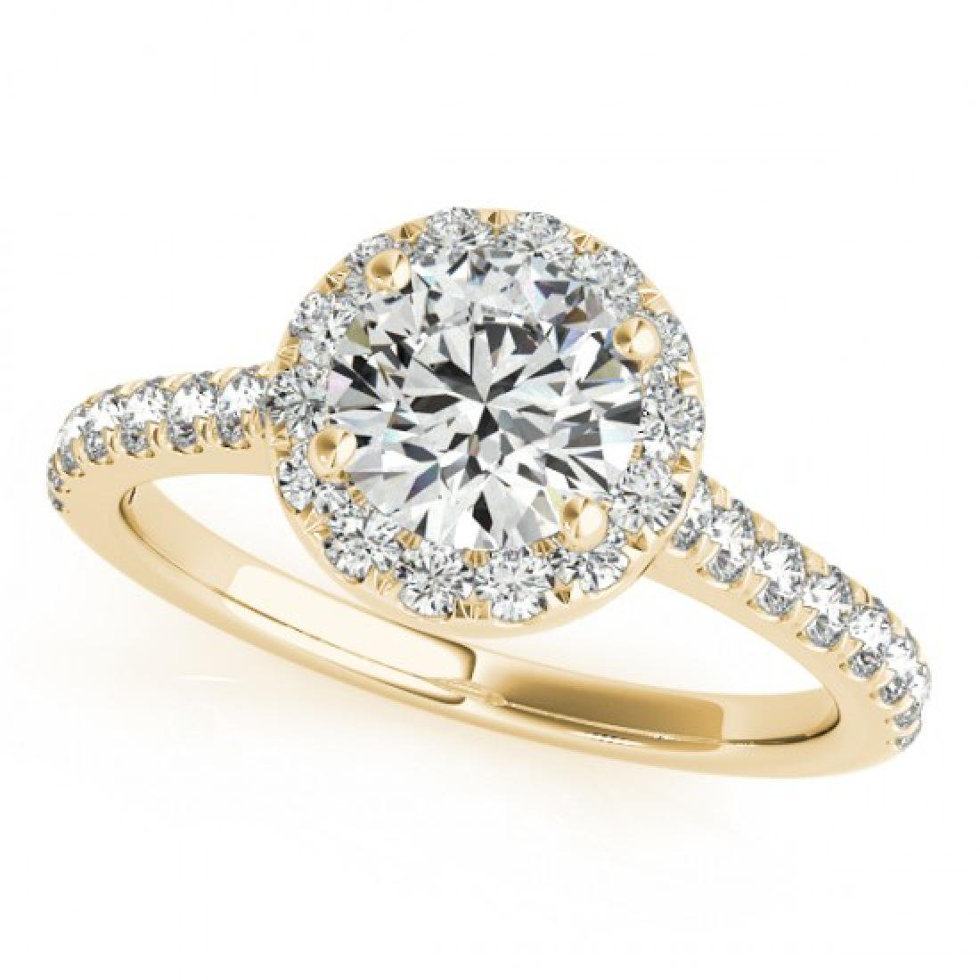 1.4 CTW Certified VS/SI Diamond Solitaire Halo Ring 18K