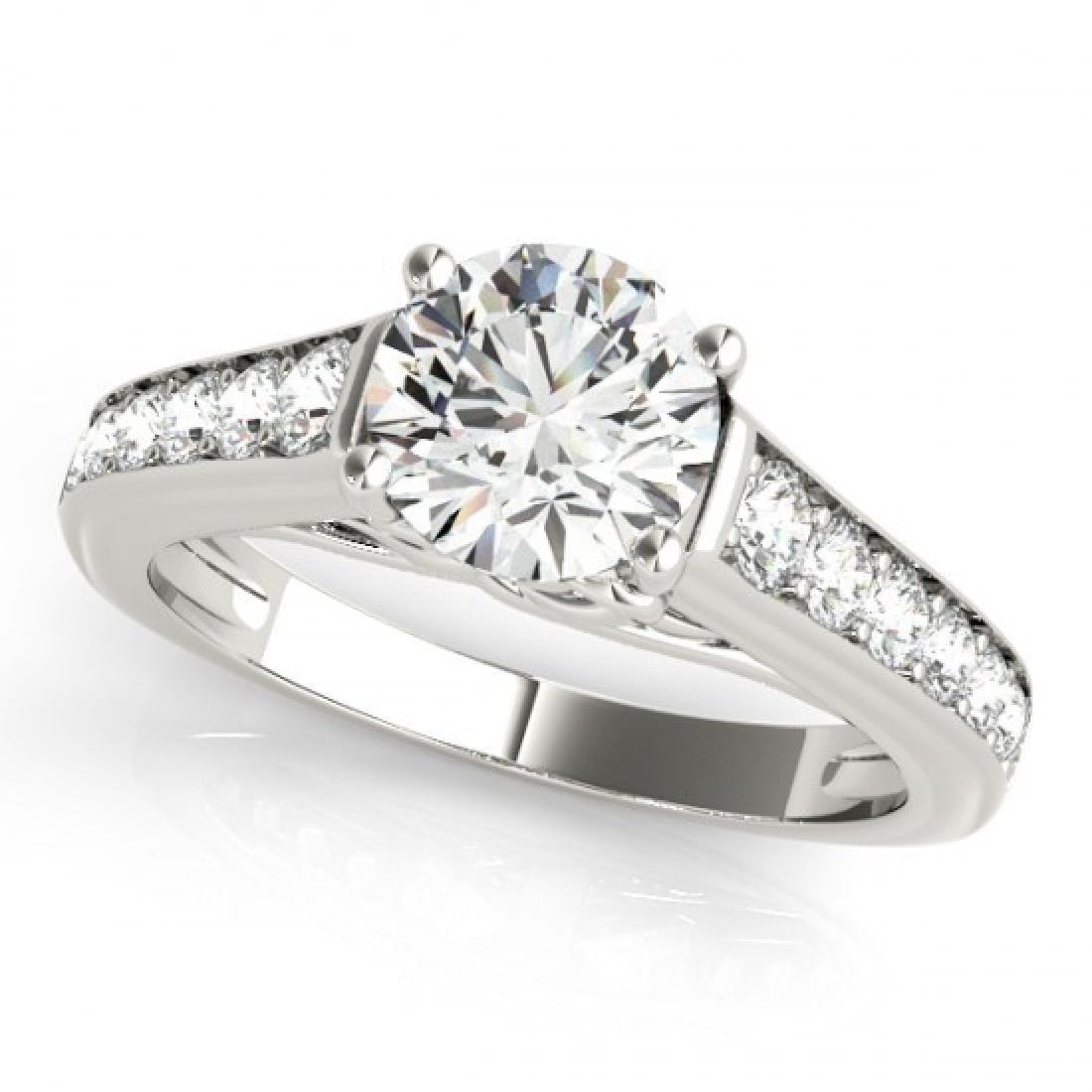 1 CTW Certified VS/SI Diamond Solitaire Ring 18K White