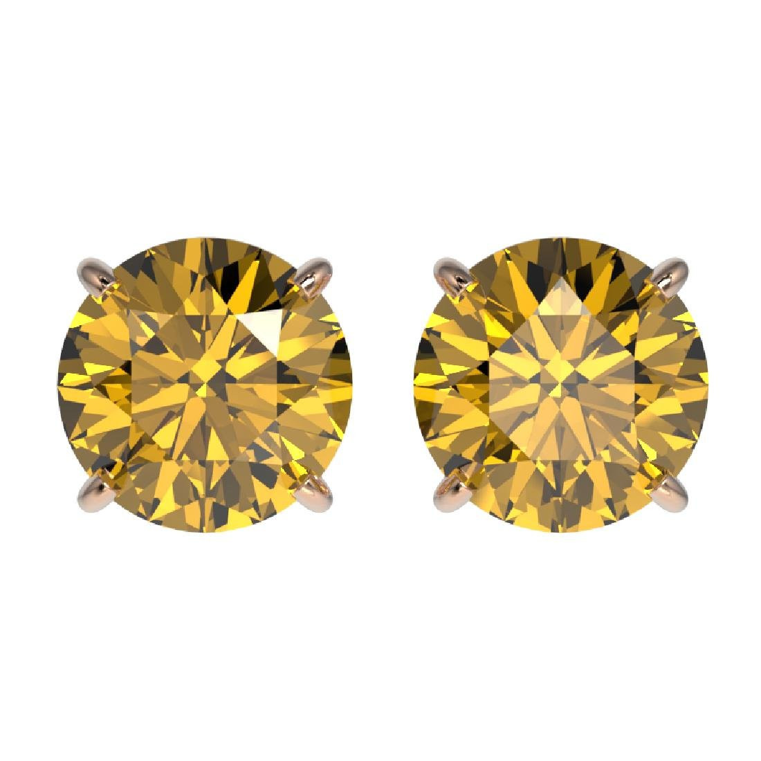2.11 CTW Certified Intense Yellow SI Diamond Solitaire