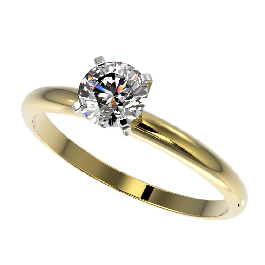 0.77 CTW Certified H-SI/I Quality Diamond Solitaire