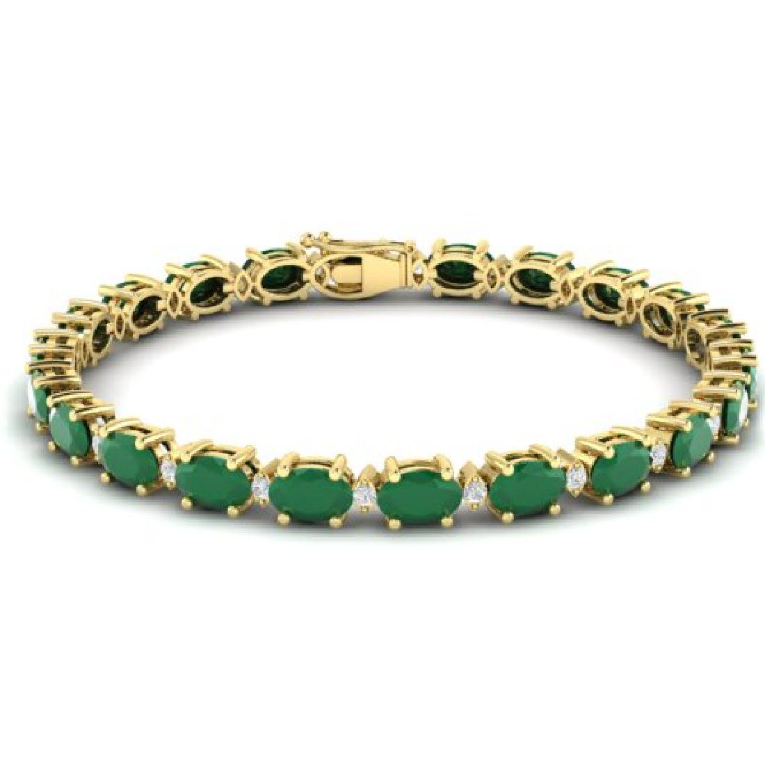 23.5 CTW Emerald & VS/SI Certified Diamond Eternity