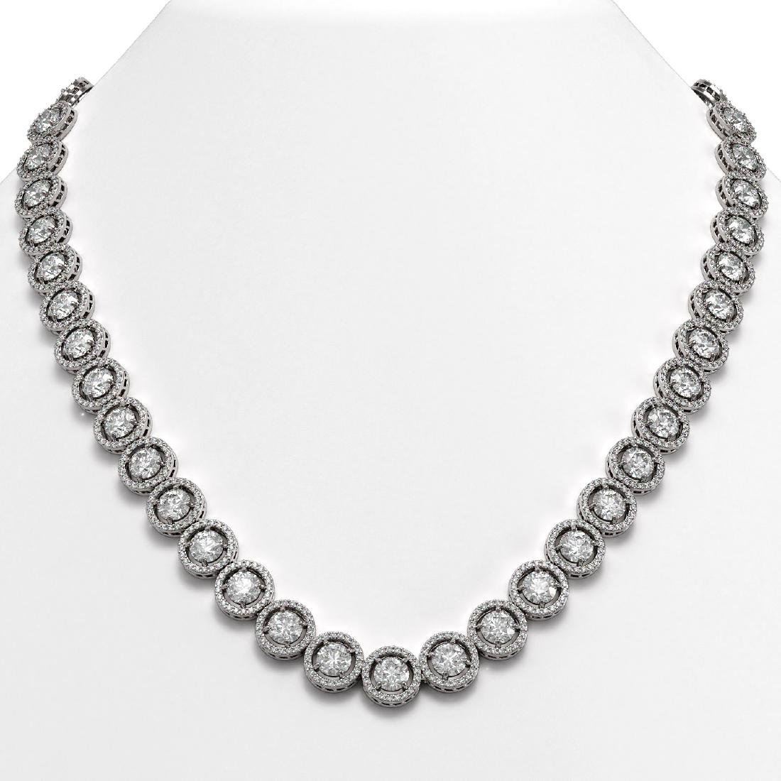 35.32 CTW Diamond Designer Necklace 18K White Gold