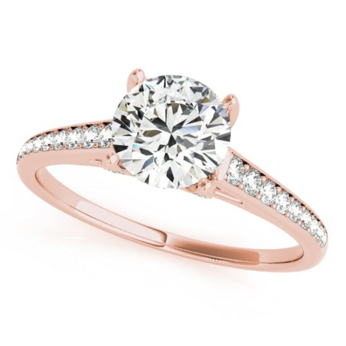 1.2 CTW Certified VS/SI Diamond Solitaire Ring 18K Rose