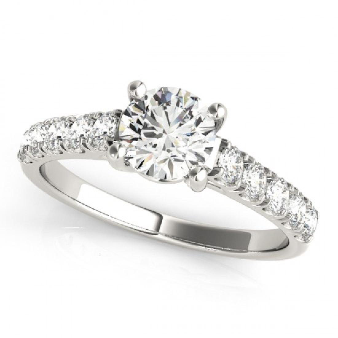 1.55 CTW Certified VS/SI Diamond Solitaire Ring 18K