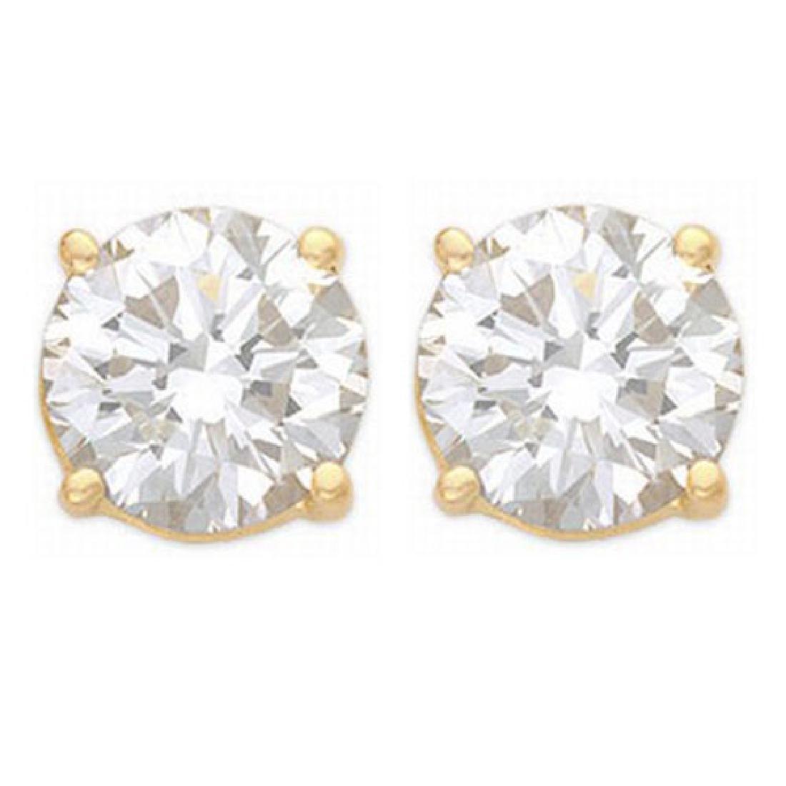 1.50 CTW Certified VS/SI Diamond Solitaire Stud