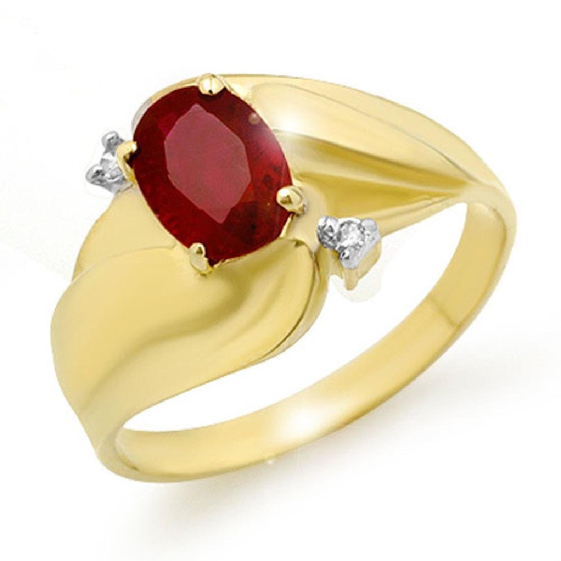 1.08 CTW Ruby & Diamond Ring 10K Yellow Gold