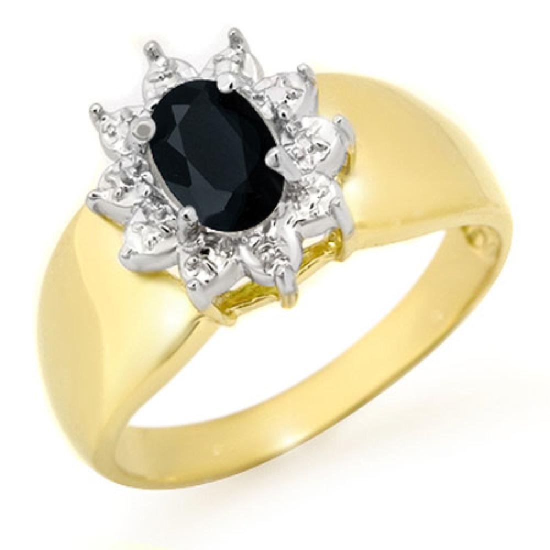 0.65 CTW Blue Sapphire Ring 10K Yellow Gold