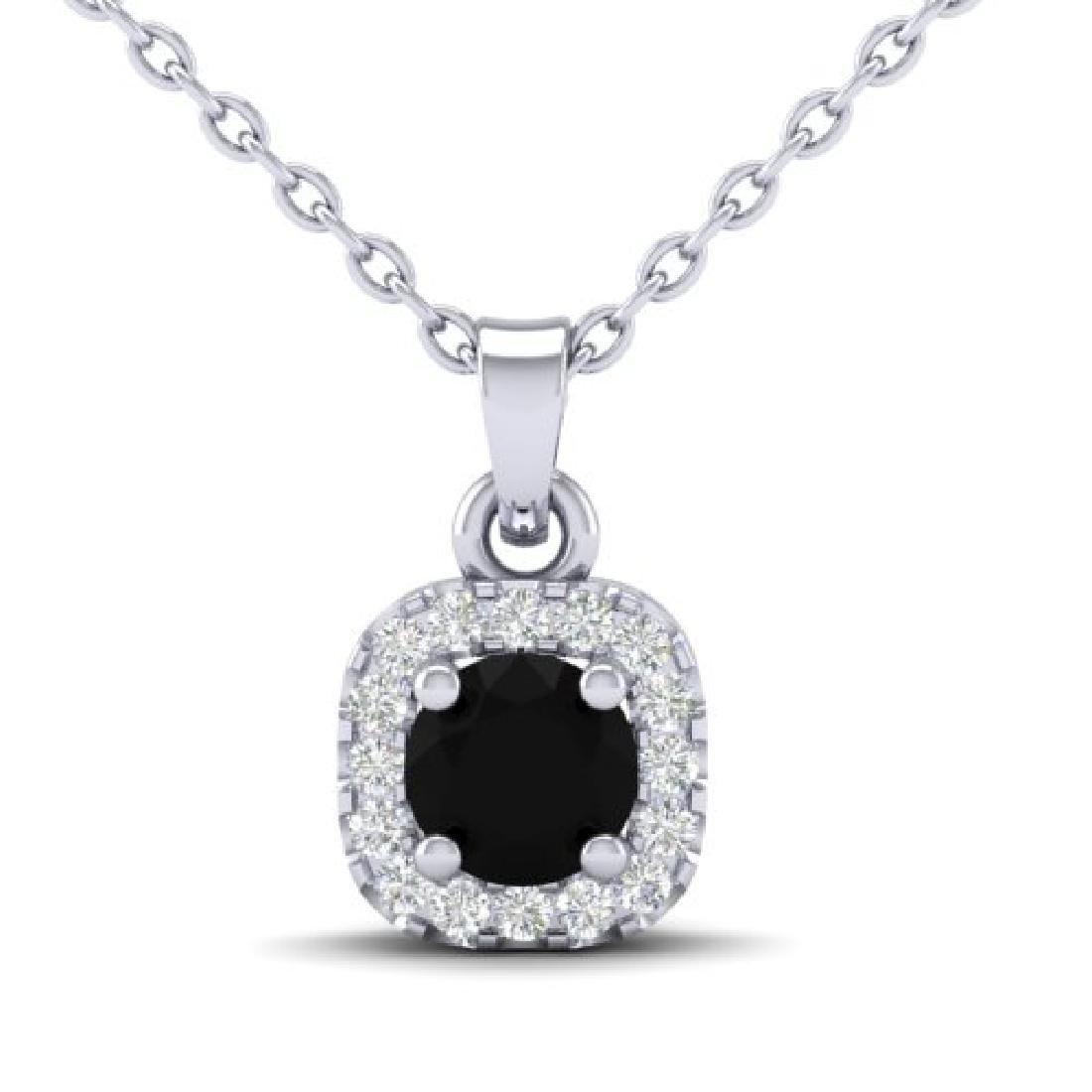 0.47 CTW Micro Pave VS/SI Diamond Heart Necklace