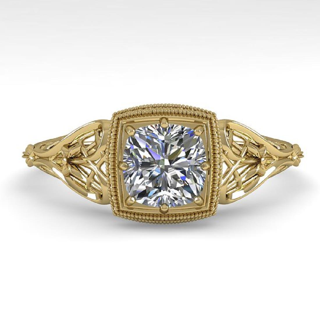 0.50 CTW Certified VS/SI Cushion Diamond Engagement