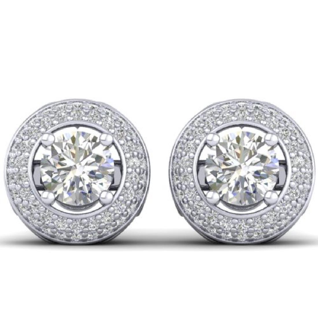 1.75 CTW Certified VS/SI Diamond Art Deco Micro Halo