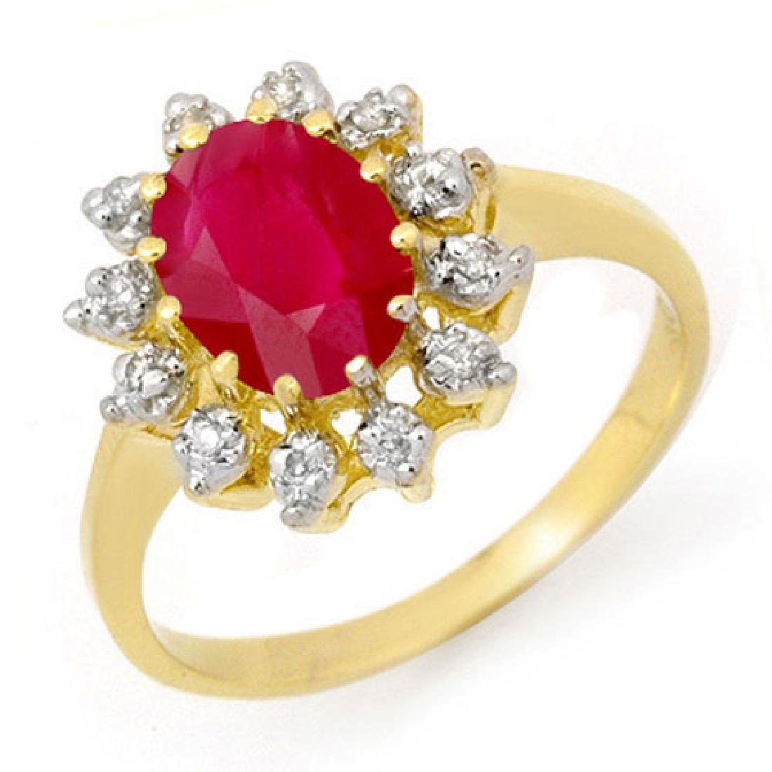 1.22 CTW Ruby & Diamond Ring 10K Yellow Gold