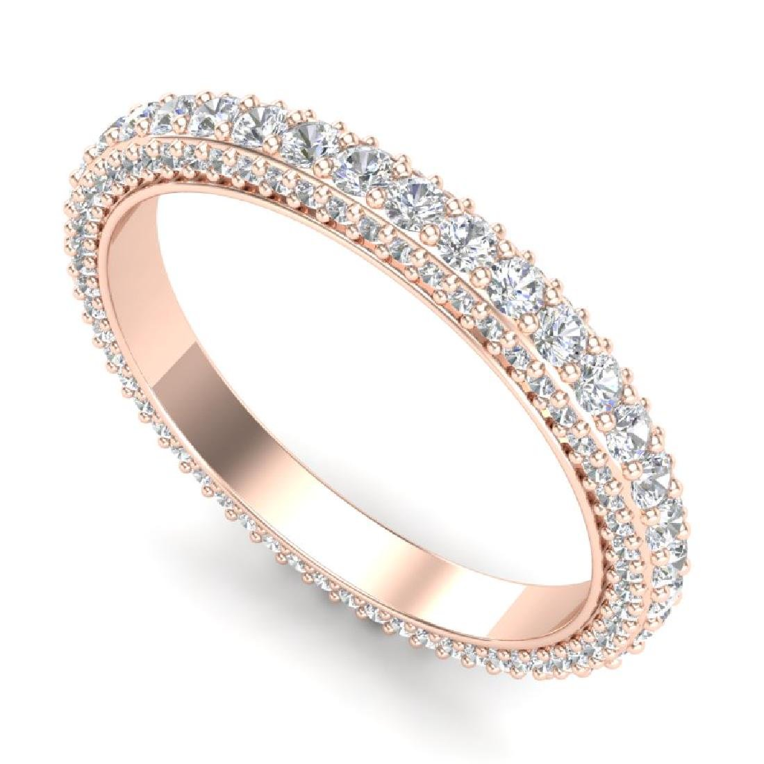 1.75 CTW VS/SI Diamond Art Deco Eternity Ring 18K Rose