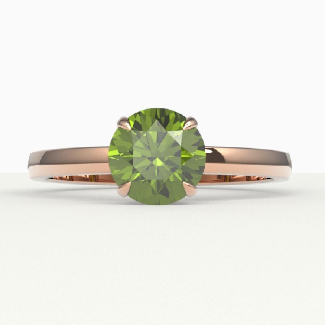 2 CTW Green Tourmaline Designer Inspired Solitaire
