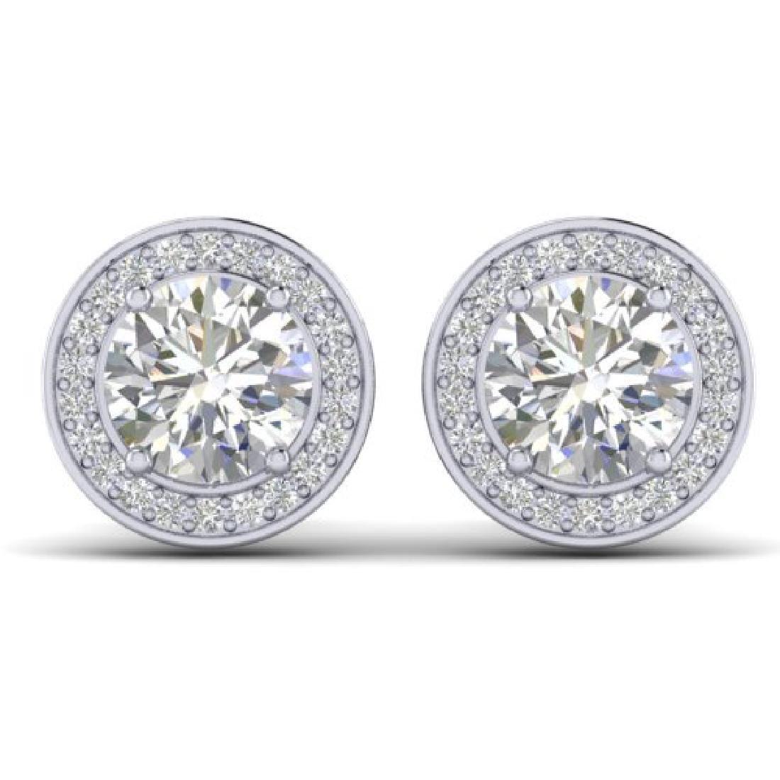 1.85 CTW I-SI Diamond Solitaire Art Deco Micro Stud