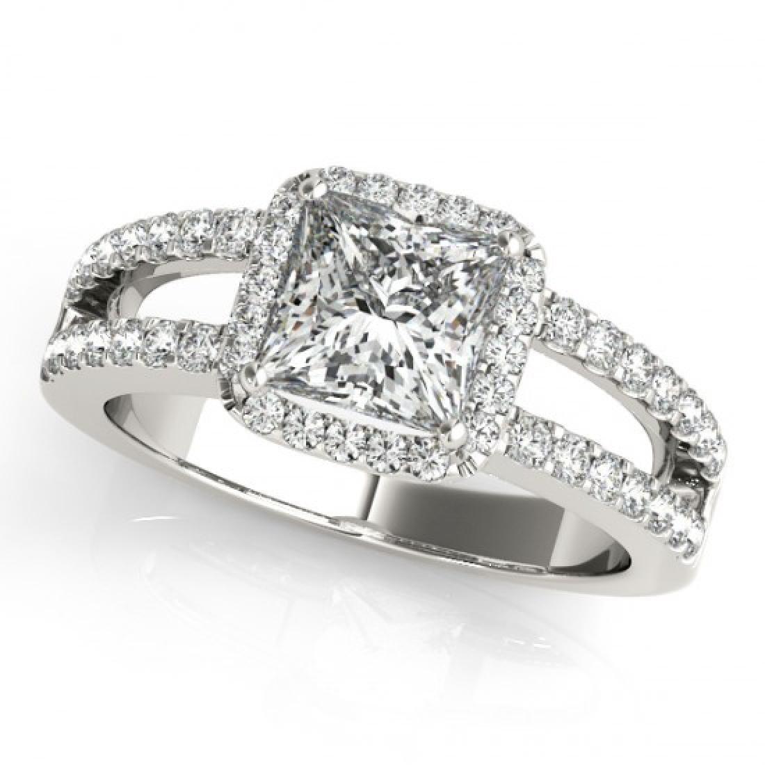 1.26 CTW Certified VS/SI Princess Diamond Solitaire