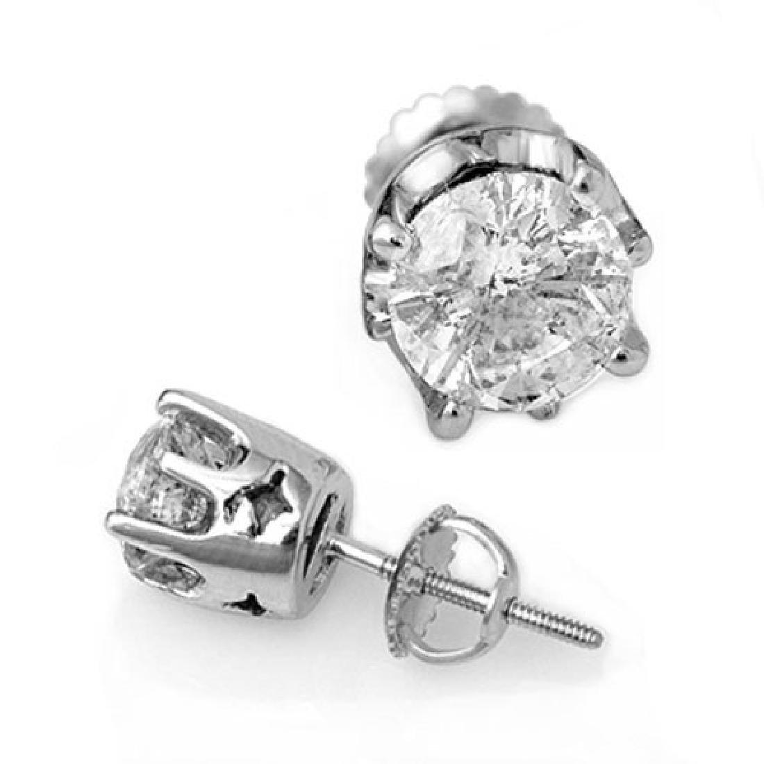 2.0 CTW Certified VS/SI Diamond Solitaire Stud Earrings