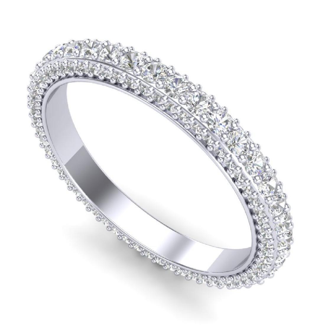 1.75 CTW VS/SI Diamond Art Deco Eternity Ring 18K White