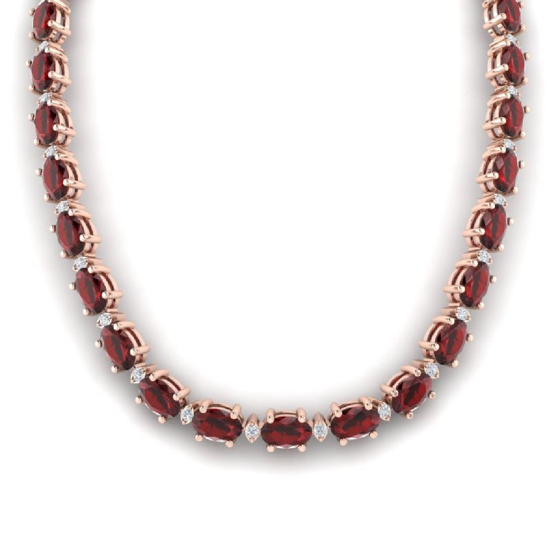 46.5 CTW Garnet & VS/SI Certified Diamond Eternity